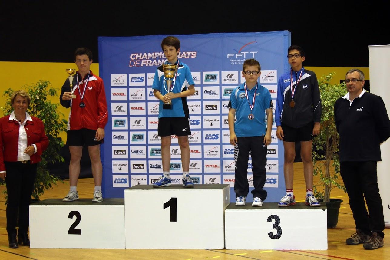 Jules cavaille double champion de france minimes asptt toulouse tennis de table - Champion de france tennis de table ...